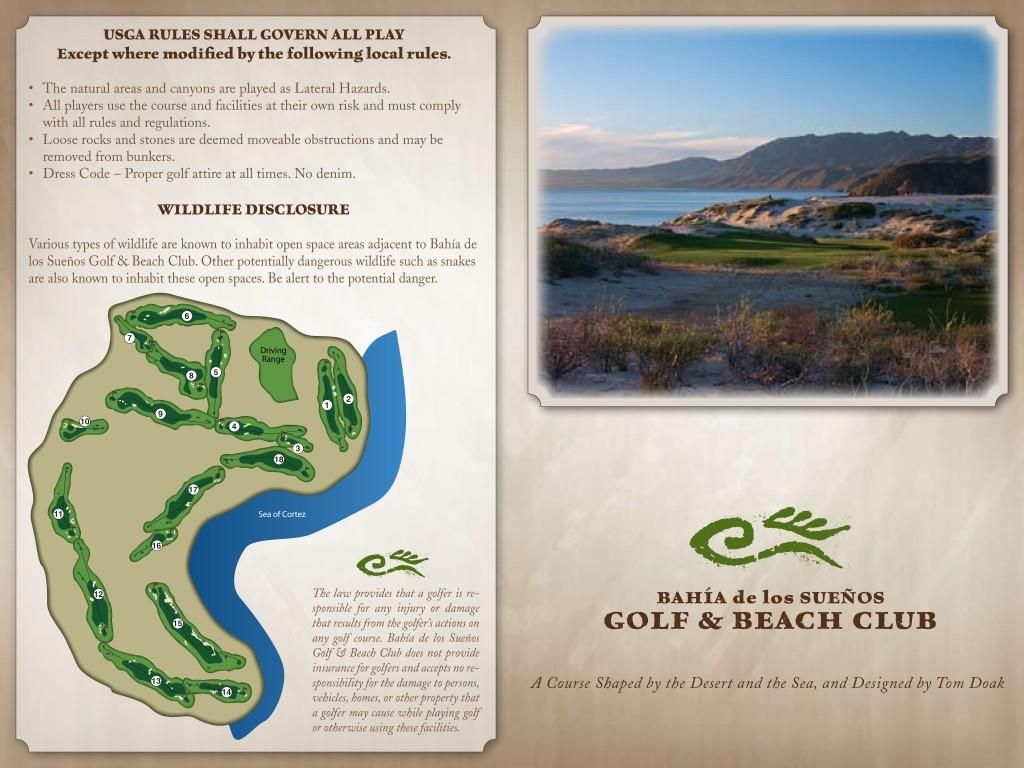 Bahia Suenos Golf Score Card1